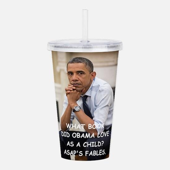 anti obama joke Acrylic Double-wall Tumbler