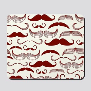 Funny Red Mustache Design Mousepad