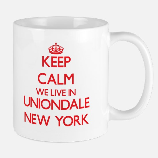 Keep calm we live in Uniondale New York Mugs