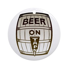 Beer On Tap Ornament (Round)