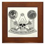 Masonic virtue in black and white Framed Tile