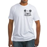 Masonic virtue in black and white Fitted T-Shirt