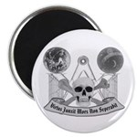 Masonic virtue in black and white Magnet
