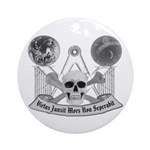 Masonic virtue in black and white Ornament (Round)