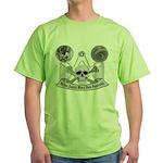 Masonic virtue in black and white Green T-Shirt