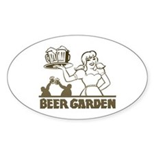 Beer Garden Oval Sticker
