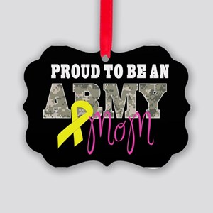 Proud to Be Army Mom Picture Ornament