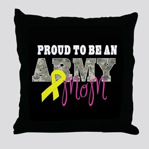 Proud to Be Army Mom Throw Pillow