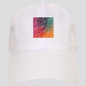 Multi Colored Waves Abstract Design Cap