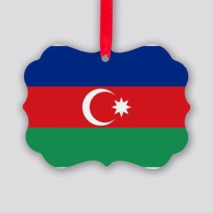 Azerbaijan flag Picture Ornament