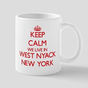 Keep calm we live in West Nyack New York Mugs