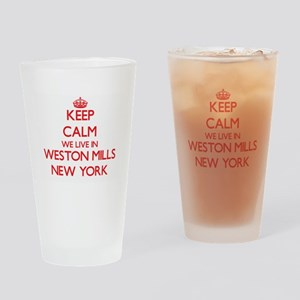 Keep calm we live in Weston Mills N Drinking Glass