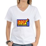 Stop Terrorism Women's V-Neck T-Shirt