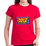 Stop Terrorism Women's Dark T-Shirt