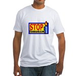 Stop Terrorism Fitted T-Shirt