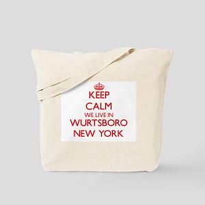 Keep calm we live in Wurtsboro New York Tote Bag