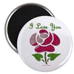 I Love You Rose Magnets