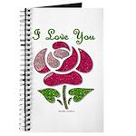 I Love You Rose Journal
