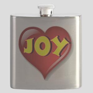 The Great Joy Heart Flask