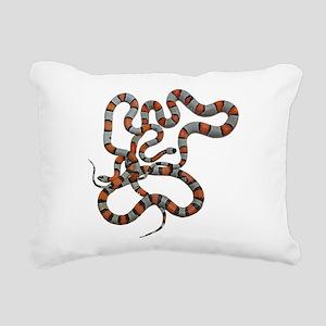 greyband kingsnake Rectangular Canvas Pillow