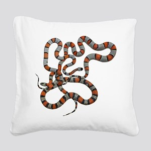 greyband kingsnake Square Canvas Pillow