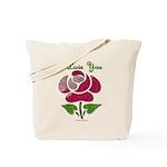 I Love You Rose Tote Bag