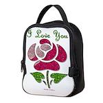 I Love You Rose Neoprene Lunch Bag