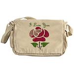 I Love You Rose Messenger Bag