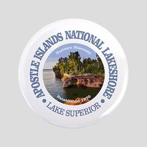 "Apostle Islands NL 3.5"" Button"