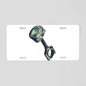 piston2 Aluminum License Plate