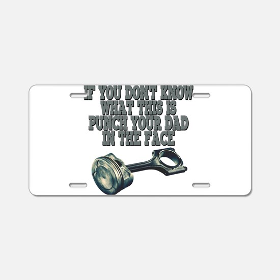 piston Aluminum License Plate