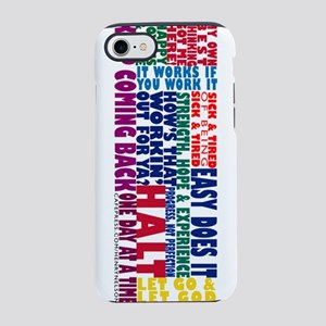 AA Recovery Slogans iPhone 7 Tough Case