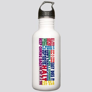 AA Recovery Slogans Stainless Water Bottle 1.0L