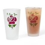 I Love You Rose Drinking Glass