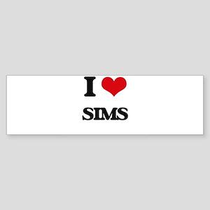 I Love Sims Bumper Sticker