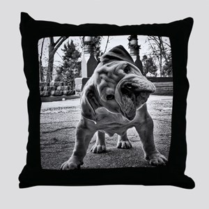 Dudley English Bulldog Throw Pillow
