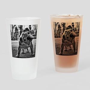 Dudley English Bulldog Drinking Glass