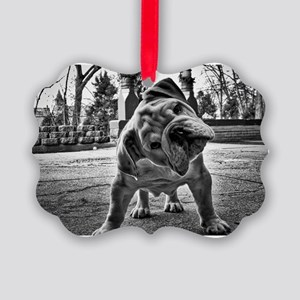 Dudley English Bulldog Picture Ornament