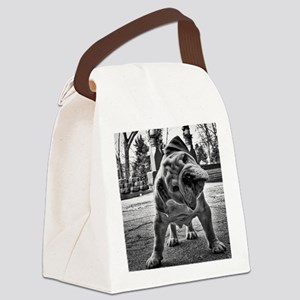Dudley English Bulldog Canvas Lunch Bag