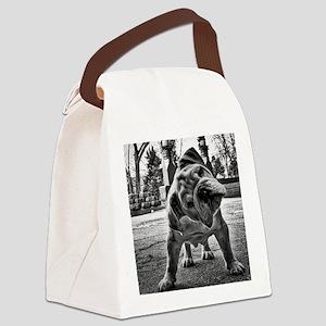 Dudley English Bulldog Canvas Lunch Bag