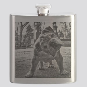 Dudley English Bulldog Flask