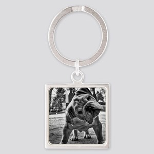 Dudley English Bulldog Square Keychain