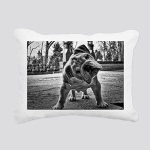 Dudley English Bulldog Rectangular Canvas Pillow