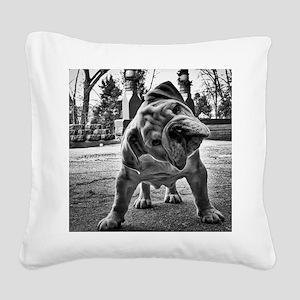 Dudley English Bulldog Square Canvas Pillow