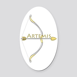 Bow of Artemis Oval Car Magnet