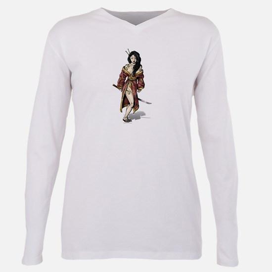 Lady Samurai Plus Size Long Sleeve T-Shirt