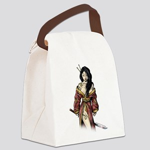 Lady Samurai Canvas Lunch Bag
