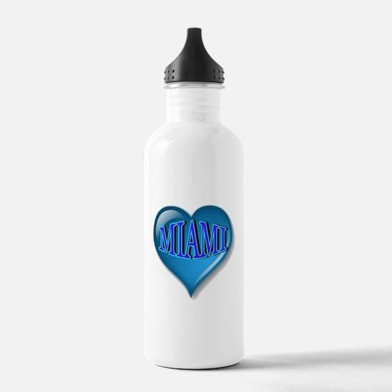 Miami Heart Water Bottle