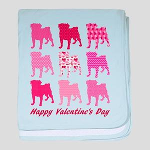 Valentine Pugs baby blanket