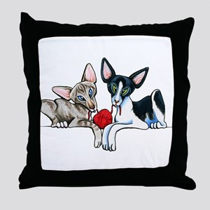 Yarn Orientals Throw Pillow